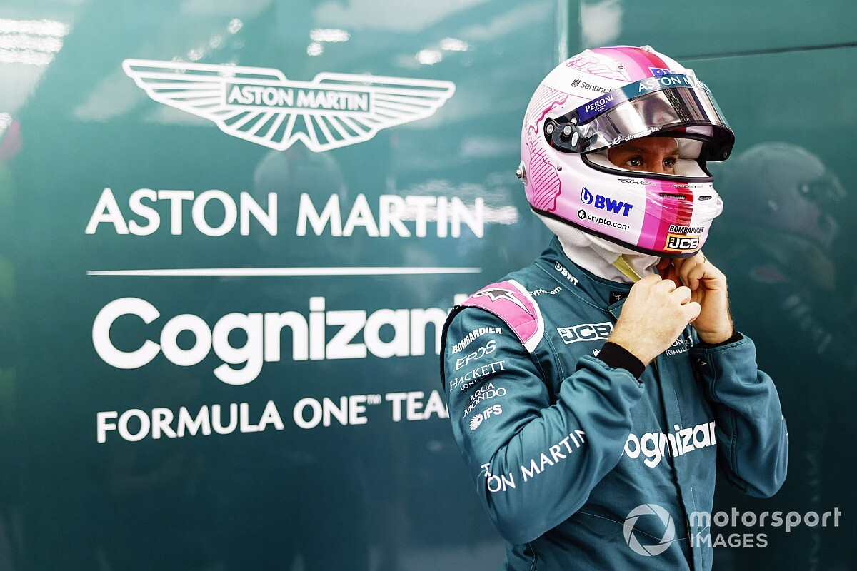 Vettel: Satisfaction not necessary in pink F1 helmet change - Motor Informed