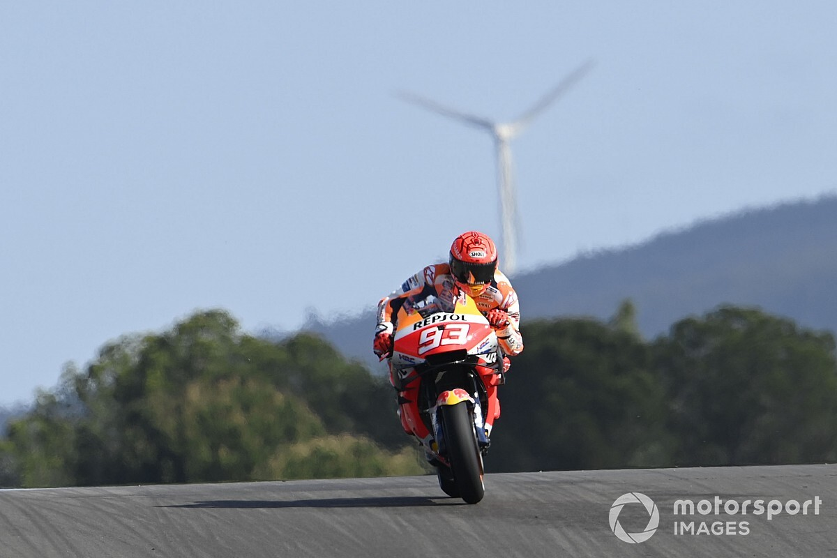 Honda downplays Marquez's efficiency in FP1 - Motor Informed