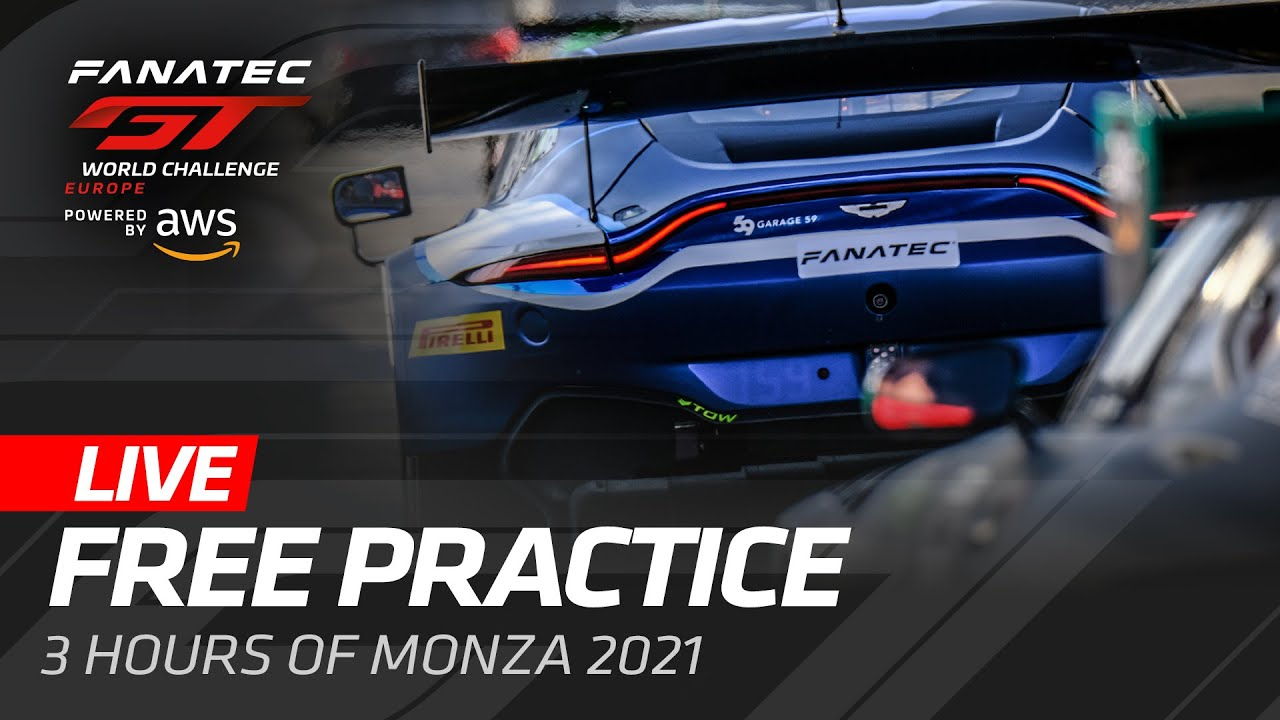 LIVE FROM MONZA - FREE PRACTICE - FANATEC GT WORLD CHALLENGE 2021 ENGLISH - Motor Informed