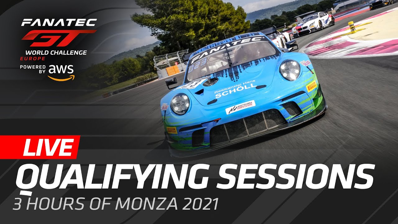 LIVE FROM MONZA - QUALIFYING - FANATEC GT WORLD CHALLENGE 2021 ENGLISH - Motor Informed