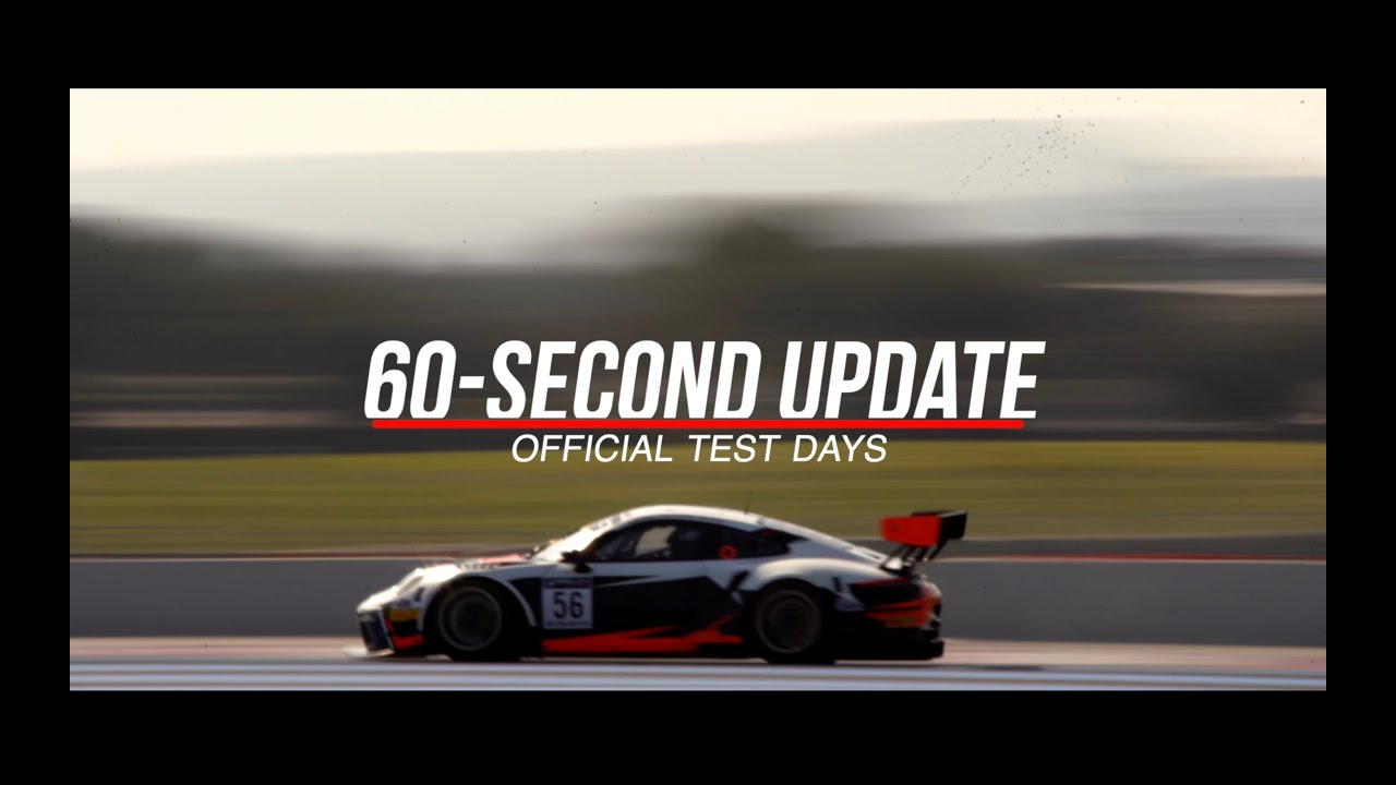 60 SECOND UPDATE! - Official Test Days - #GTWorldChEu​ 2021 - Motor Informed
