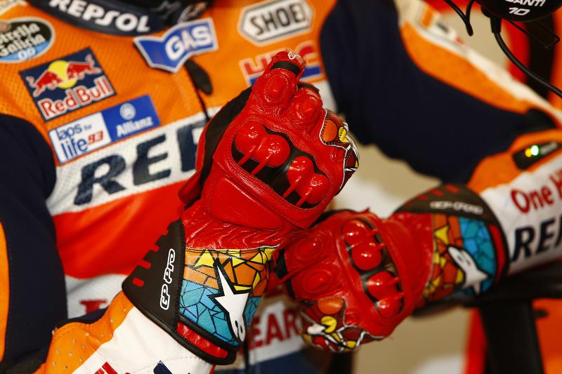 Gloves of Marc Marquez, Repsol Honda Team