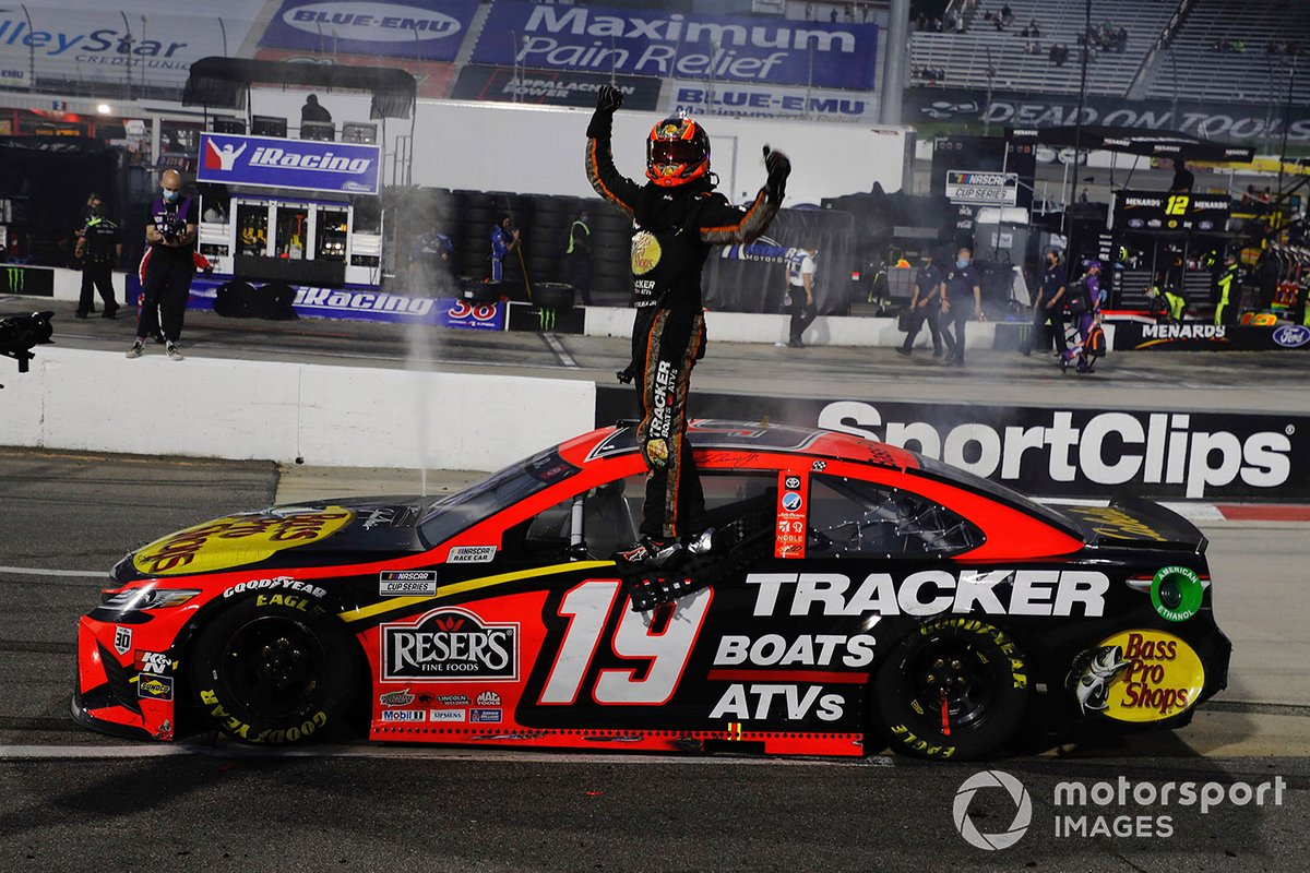 Race winner Martin Truex Jr., Joe Gibbs Racing, Toyota Camry Bass Pro