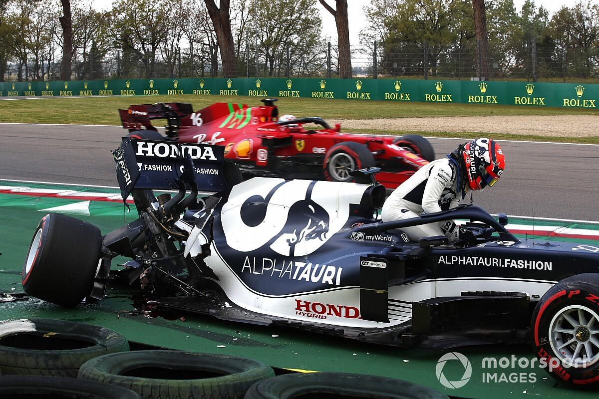 Tsunoda's gearbox broke in half in Imola Q1 crash - Motor Informed