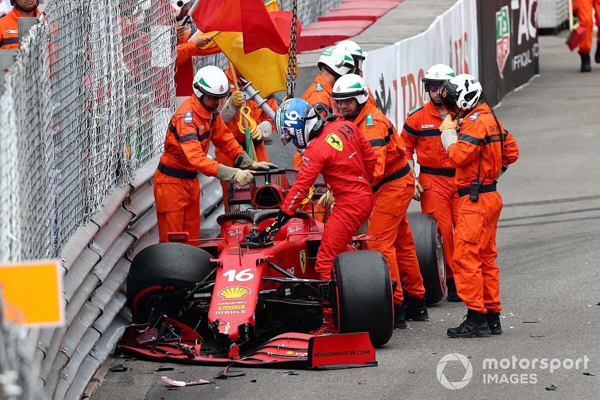 Ferrari believes Leclerc's damaged driveshaft attributable to Monaco qualifying crash - Motor Informed