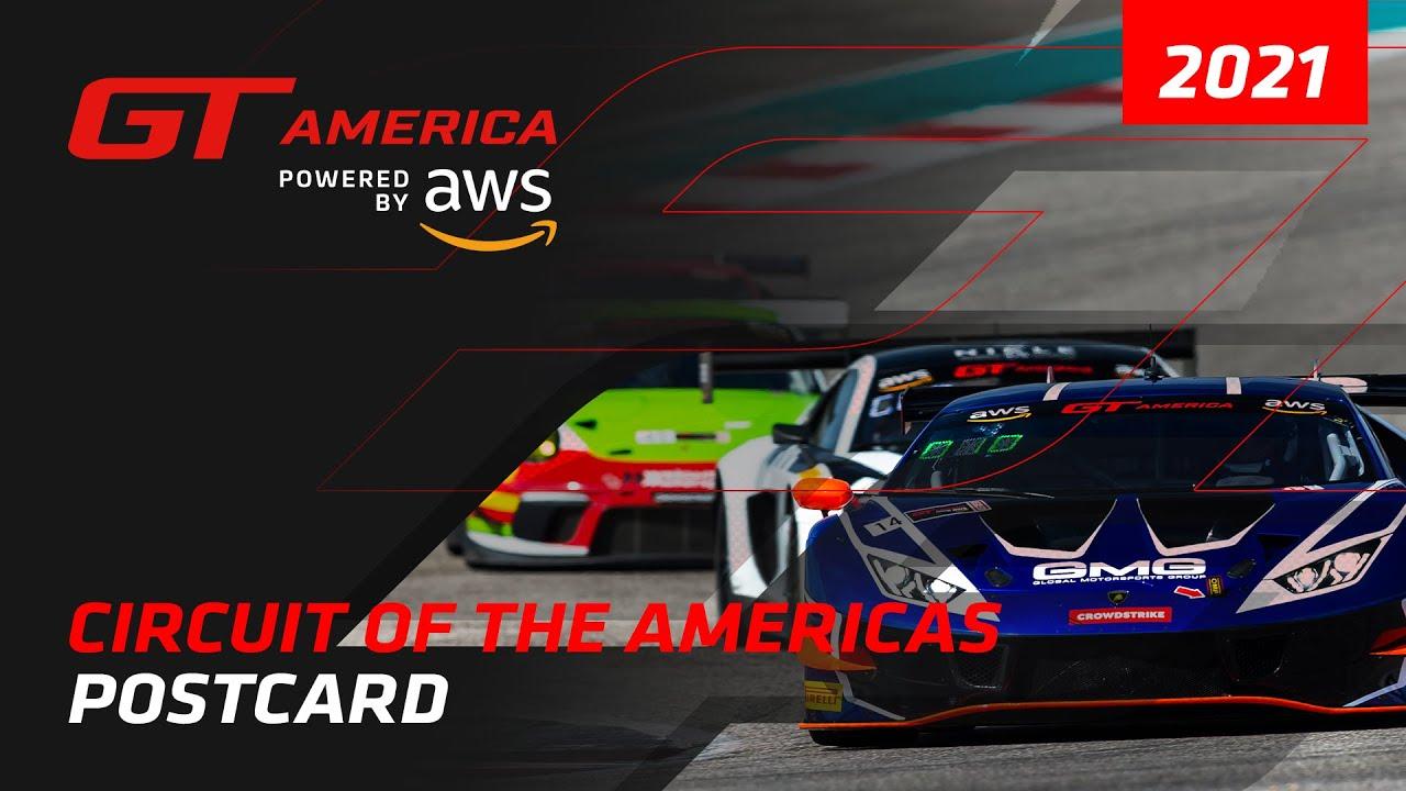 COTA Postcard - GT America powered by AWS 2021 - Motor Informed