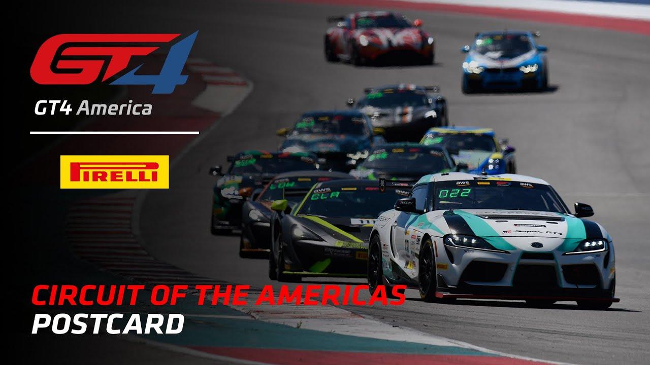 COTA Postcard - Pirelli GT4 America 2021 - Motor Informed