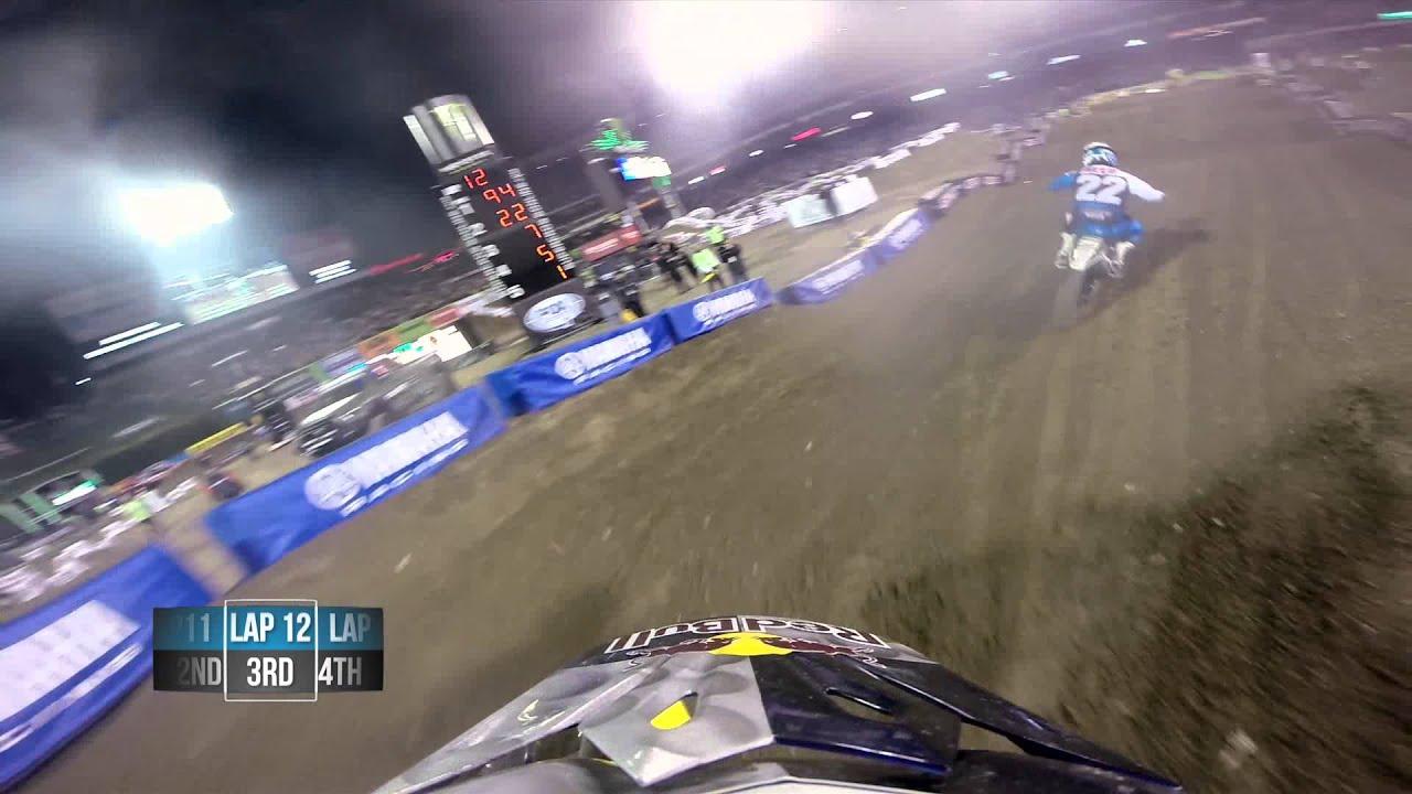 GoPro HD: James Stewart Main Event 2014 Monster Energy Supercross from Anaheim 1 - Motor Informed