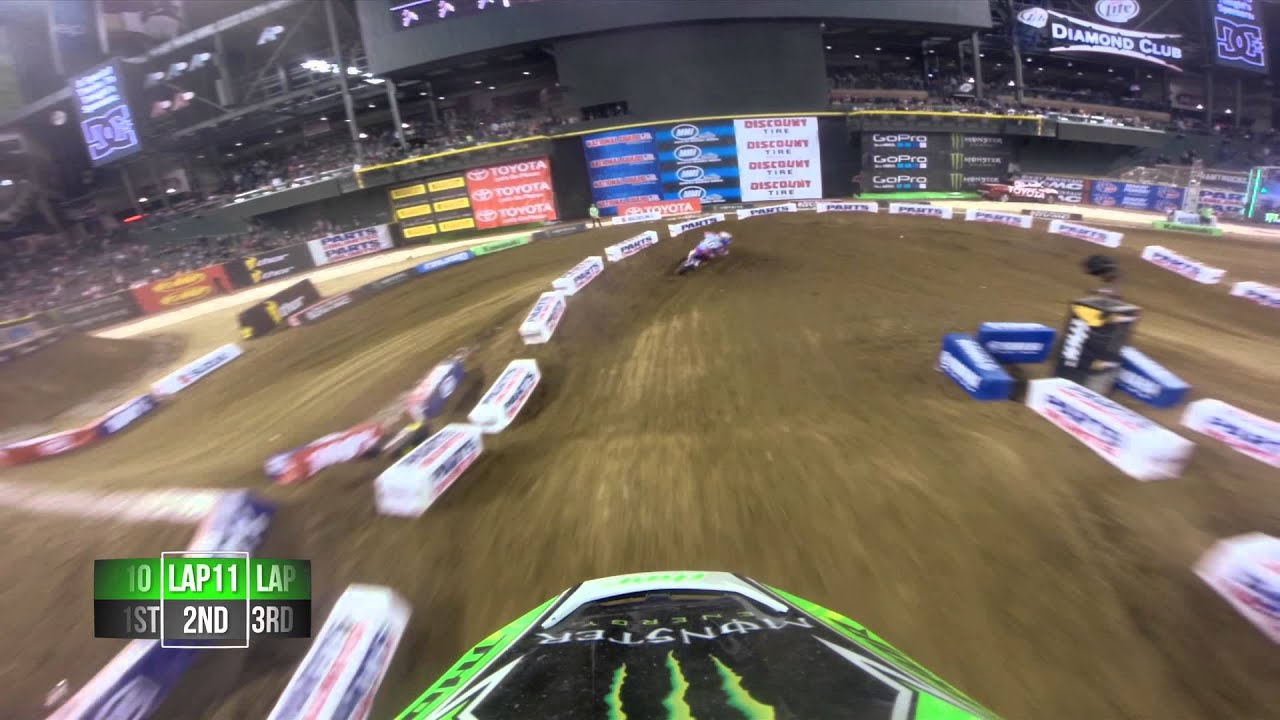 GoPro HD: Ryan Villopoto Main Event 2014 Monster Energy Supercross from Phoenix - Motor Informed