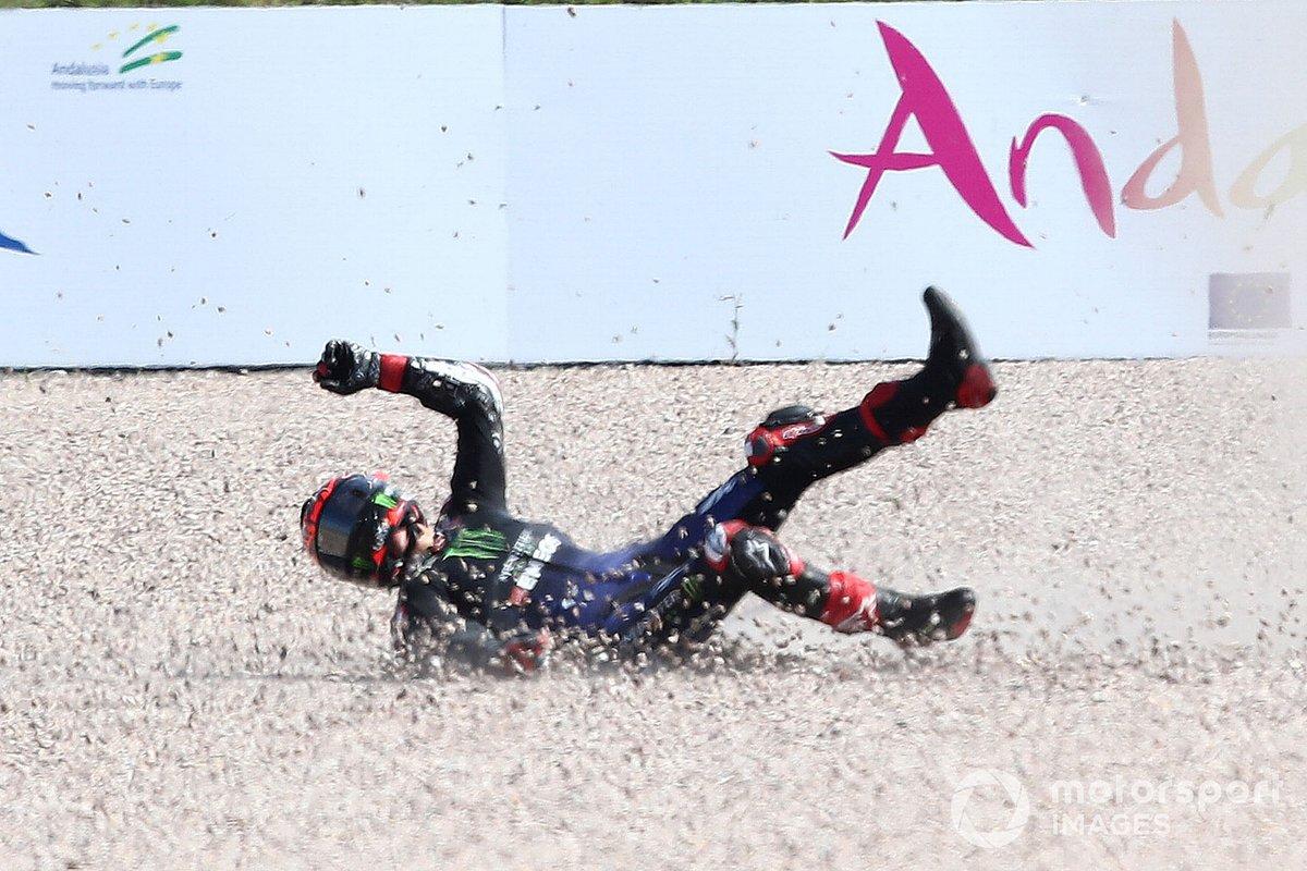 Fabio Quartararo, Yamaha Factory Racing crash