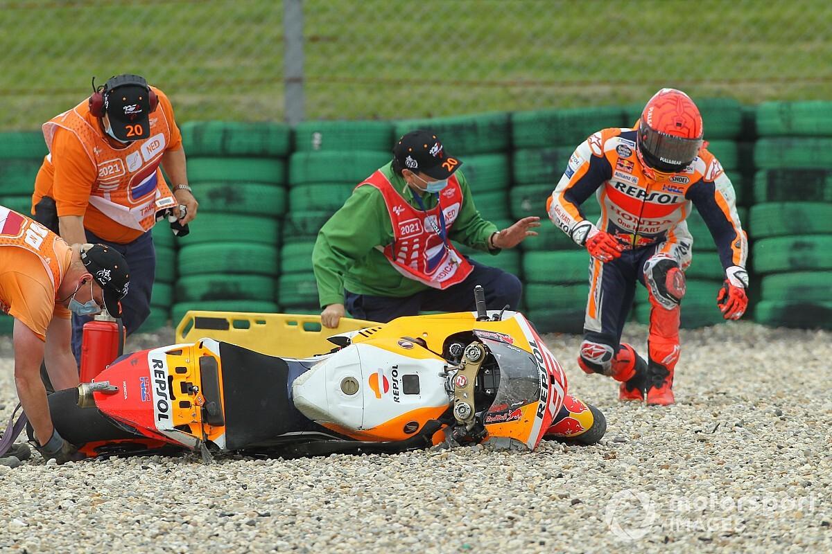 Honda: Marquez's FP2 crash value him Assen MotoGP podium shot - Motor Informed