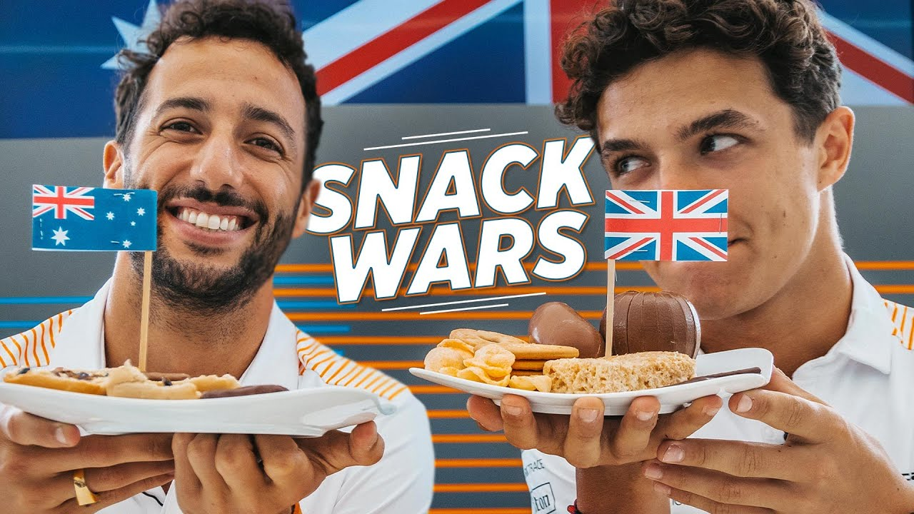 Snack Wars with Lando Norris and Daniel Ricciardo - Motor Informed