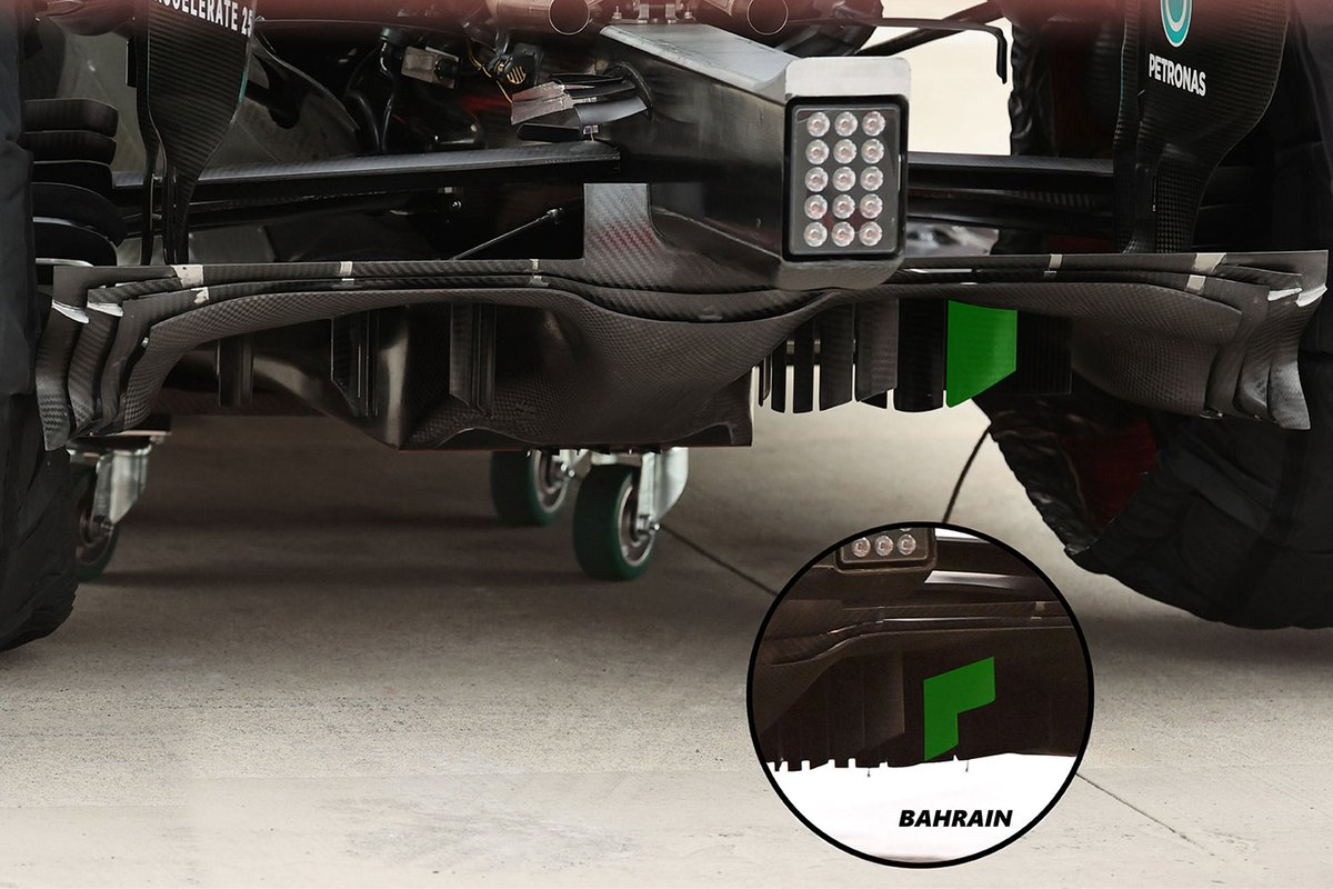 Mercedes W12 diffuser comparison