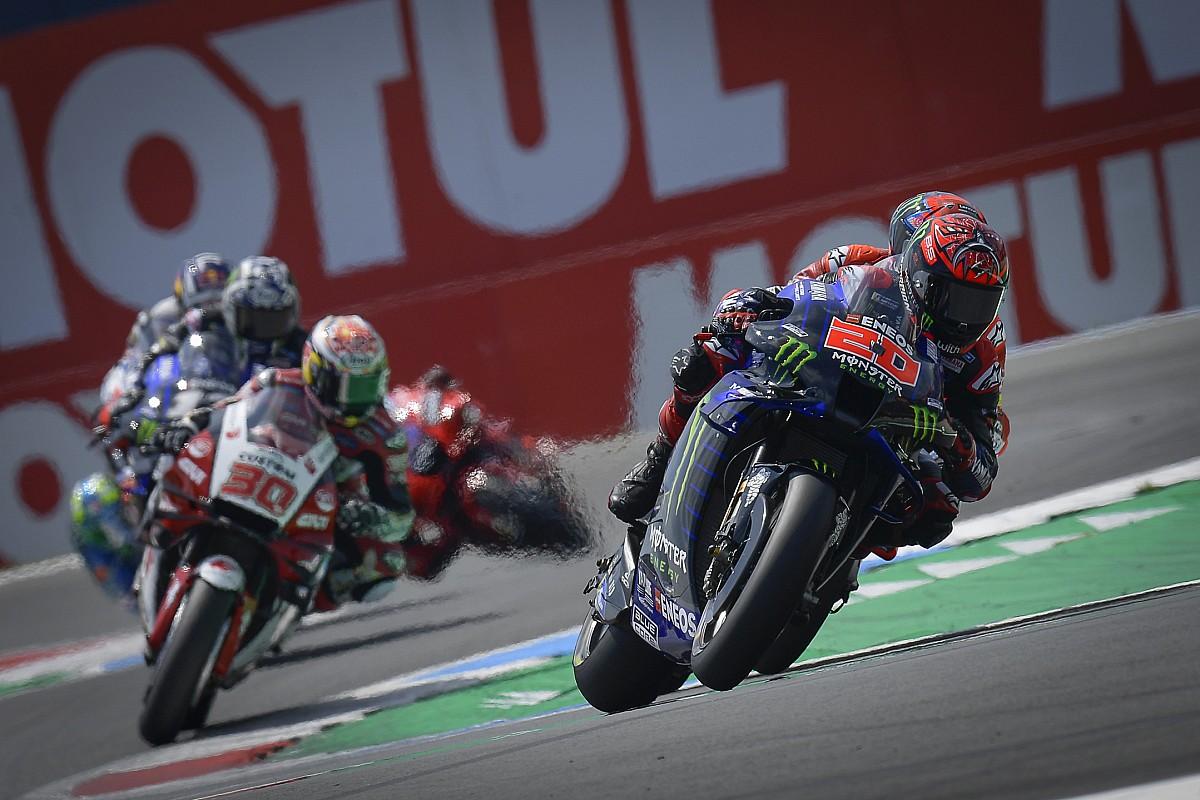 """Quartararo driving 2021 Yamaha MotoGP bike """"like an animal"""" - Motor Informed"""