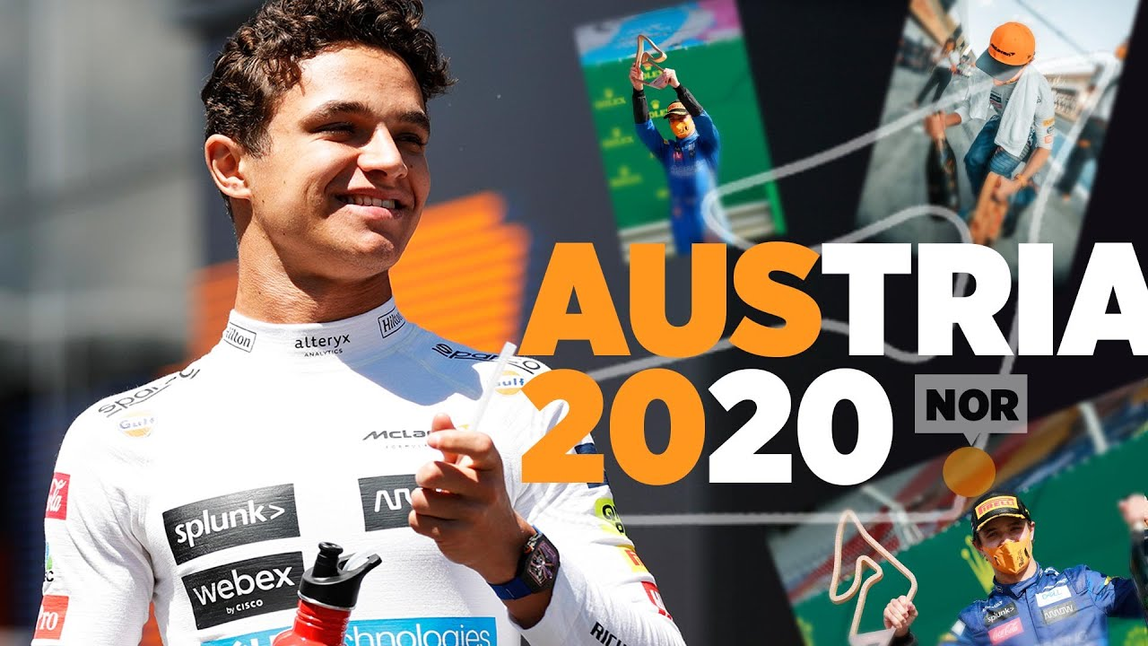 Lando Norris reacts to his debut F1 podium in Austria - Motor Informed