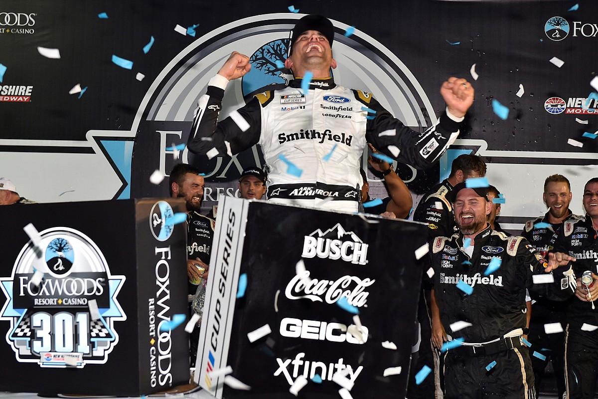 Almirola scores upset NASCAR Cup win in chaotic New Hampshire race - Motor Informed