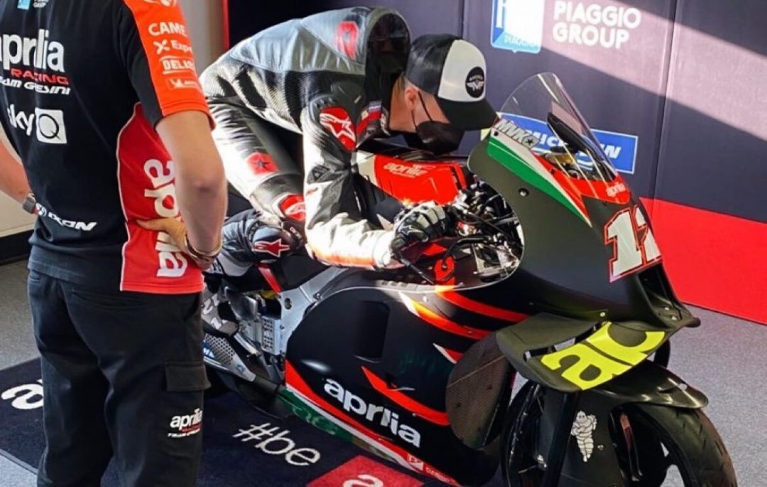 Maverick Vinales-Aprilia, first photos on the eve of the assessments - Motor Informed
