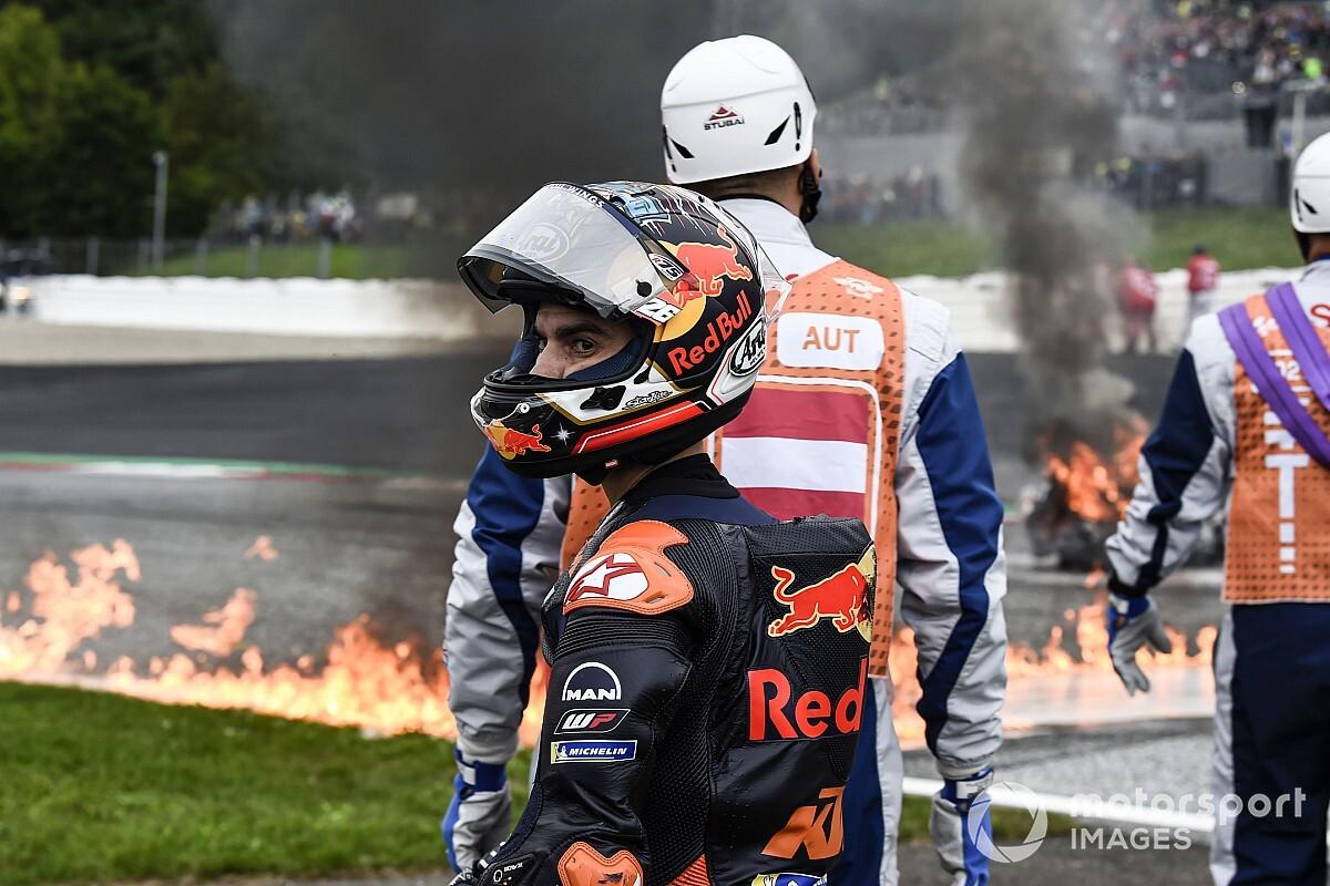 "Dani Pedrosa ""very fortunate"" in fiery Styria MotoGP crash - Motor Informed"
