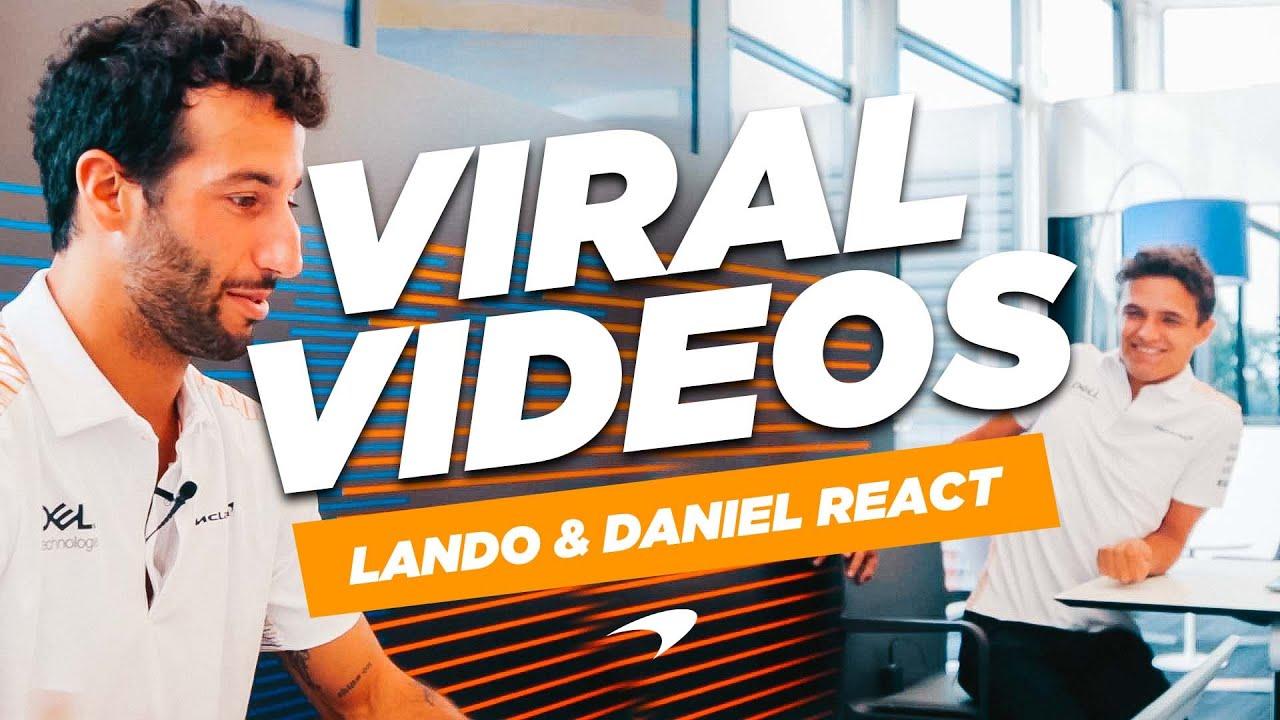 Lando Norris and Daniel Ricciardo react to classic viral videos - Motor Informed