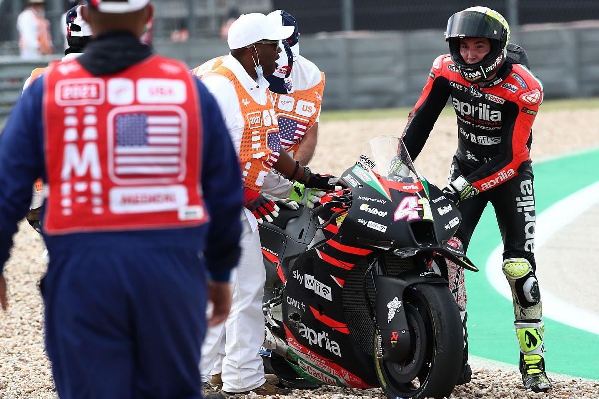 "Espargaro ""wants clarification"" to his ""nightmare"" COTA MotoGP crash-fest - Motor Informed"