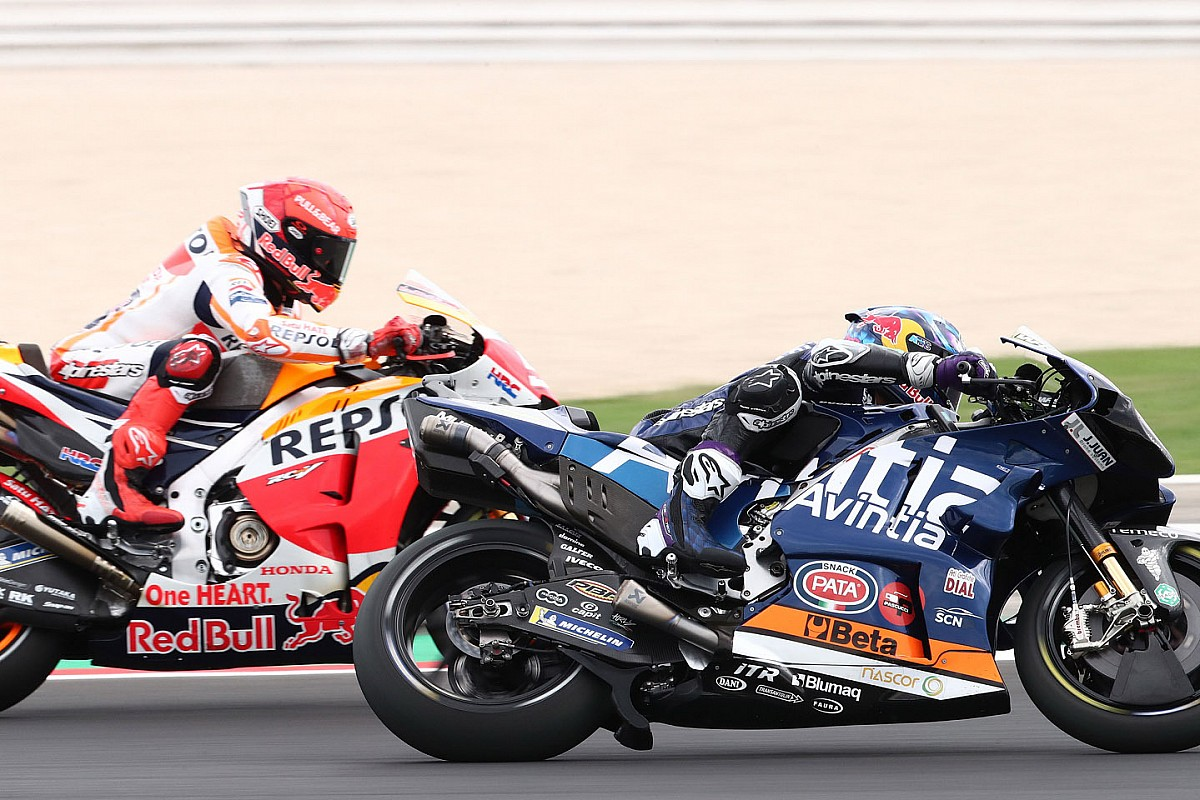 """Marquez """"over my restrict"""" chasing Bastianini in Misano MotoGP race - Motor Informed"""