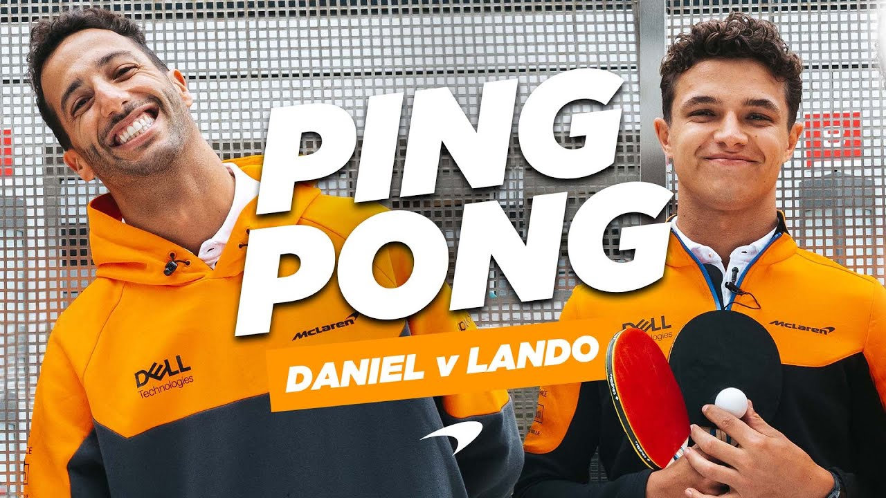 Daniel Ricciardo and Lando Norris attempt the ping pong challenge - Motor Informed