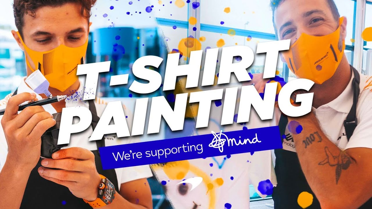 Lando Norris and Daniel Ricciardo design T-shirts for Mind - Motor Informed