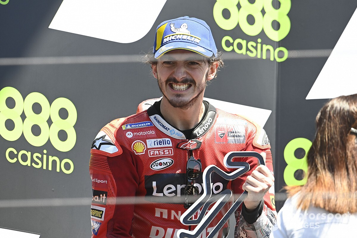 """Cancelled Portugal pole lap """"misplaced"""" Bagnaia MotoGP win probability - Motor Informed"""