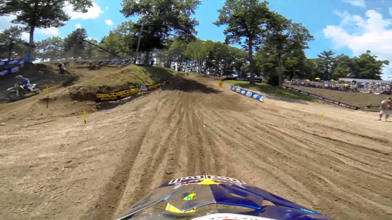 GoPro HD: James Stewart Lap 1 Moto 1 - Southwick MX Lucas Oil Pro Motocross Championship 2013 - Motor Informed