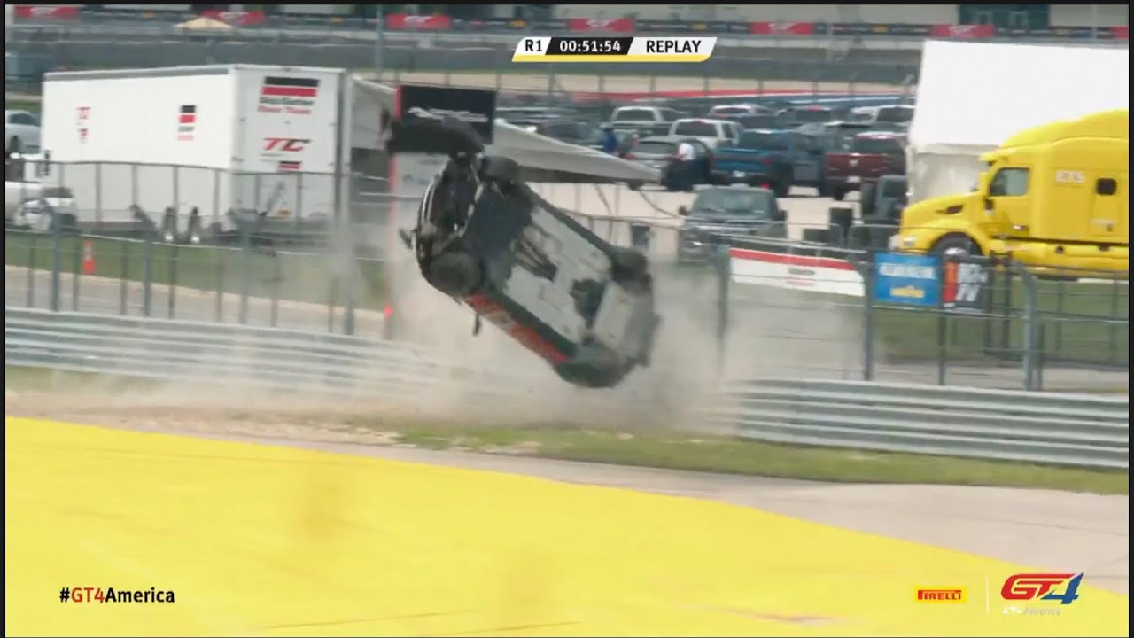 Wowza GT4 Crash at US Circuit! - Did this GT4 car go for a spin?!! | Pirelli GT4 America - Motor Informed