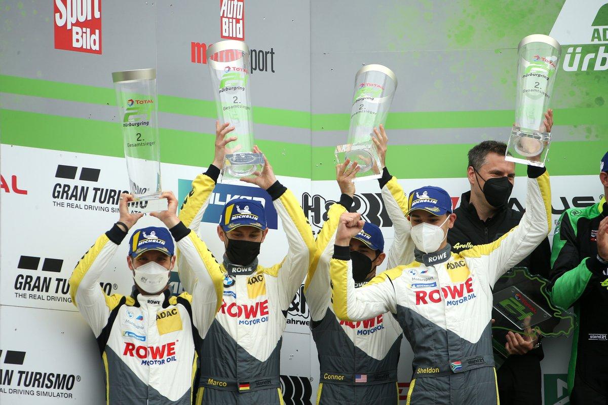 Podium: third place #98 ROWE Racing BMW M6 GT3: Connor De Phillippi, Martin Tomczyk, Sheldon van der Linde, Marco Wittmann