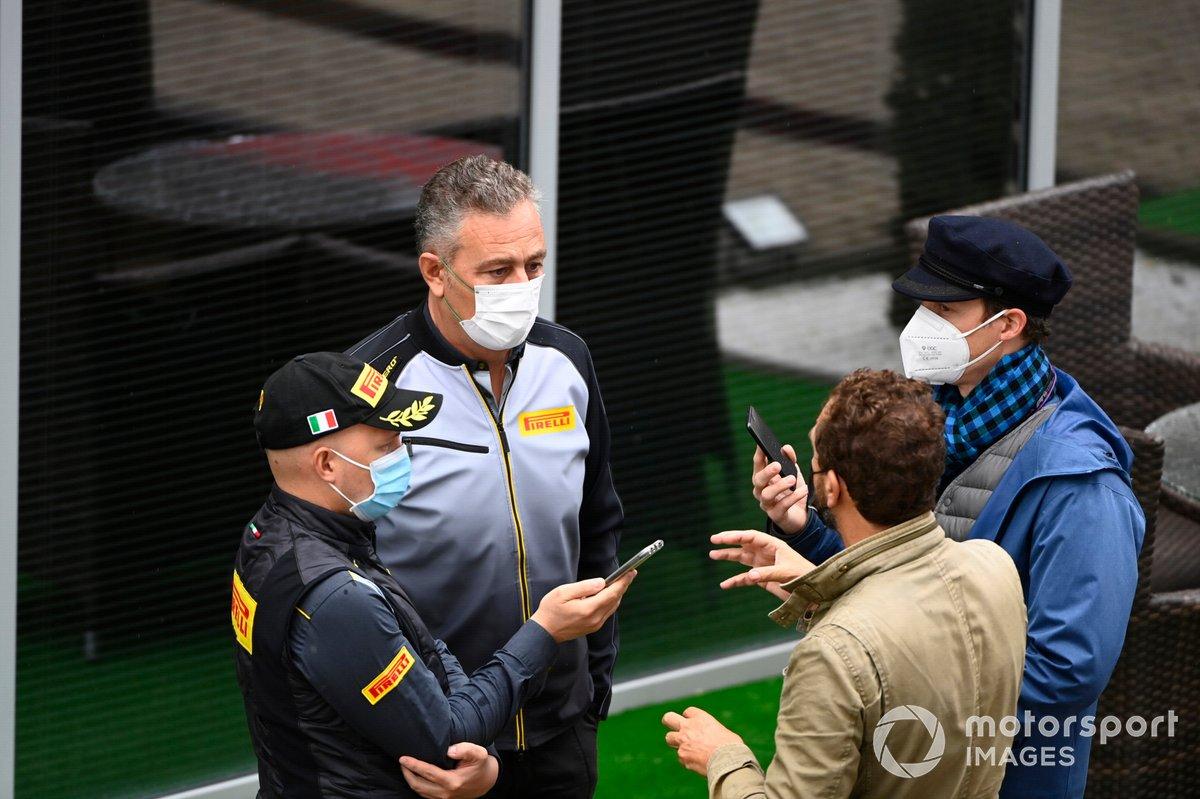 Mario Isola, Racing Manager, Pirelli Motorsport, speaks to the media